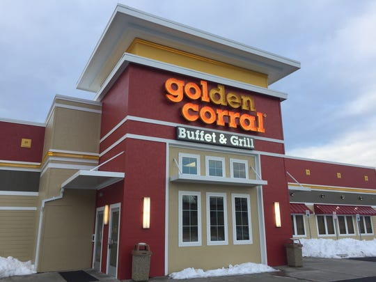 "Golden Corral in the Town of Poughkeepsie, shown on Tuesday morning, has closed ""until further notice,"" according to signs posted at the entrance."