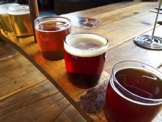 Craft beer sampler