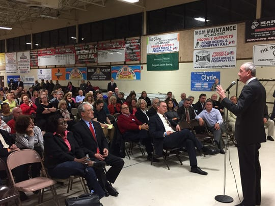 Phil Murphy speaks at the Parsippany PAL building during the annual Morris County Democratic Committee convention March 21, 2017