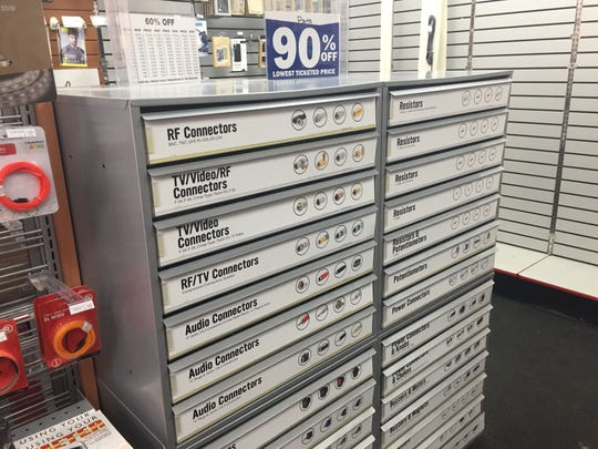 The parts drawer is a popular item that RadioShack manager Jacob Flores said customers will miss. The drawer contains connector parts for electronics and comes in handing when parts go missing from TVs and computers.