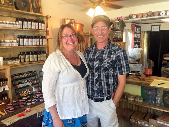 Brenda, left, and Kevin Stratton own Ziryab's Body Brew which is located at 1330 Grant Street in Silver City.