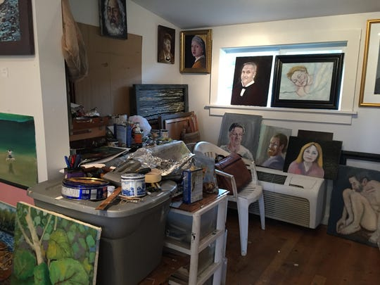 The inside of an artist cottage  near Riverside Park in downtown Bonita Springs.
