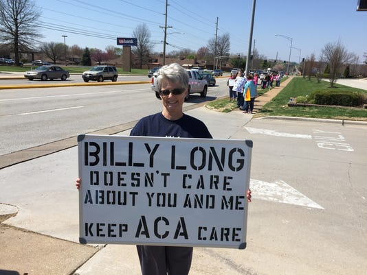 Laura Umphenour protests Billy Long