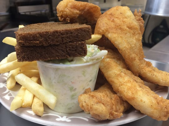 Three-piece beer-battered Alaskan pollock, served with