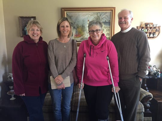 A few members of the Manna From Heaven Mission at the Lutheran Church of the Resurrection in Anderson Township are, from left, Leslie Meyer, Lexie Stevenson, Cindy Zorn and Pastor Henry Zorn.