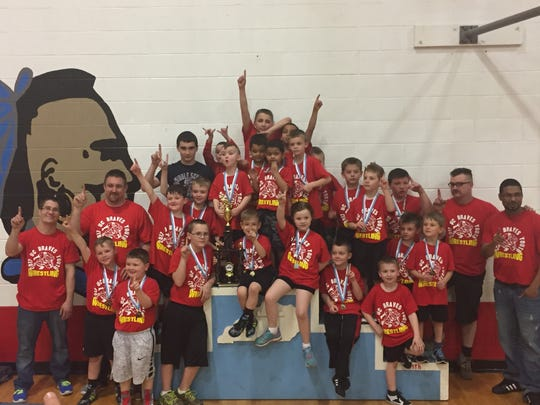 The red team placed first in the wrestling tournament.