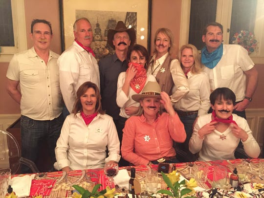 MUSTACHE MADNESS - Good friends Kay Cox and Chuck Hudson