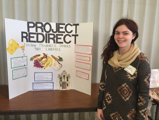 Mount Mary University student Lexi Woerishofer presents