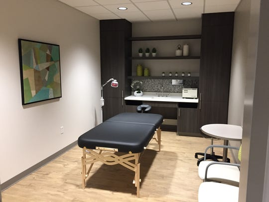 Mercy's new Comfort Health Center for Women has 35 patient-care rooms, including this therapy room.