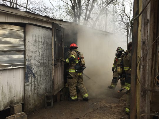 Crews with Murfreesboro Fire Rescue Department rescued three kittens from a burning unoccupied home at noon Thursday on the 400 block of Douglas Avenue.