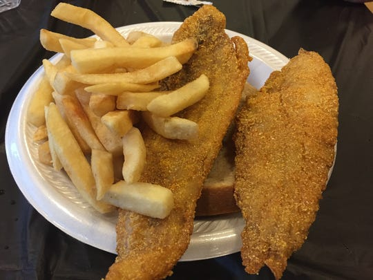 Whiting dinner at the St. Francis de Sales fish fry