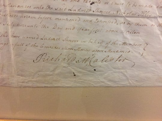 The signature of Hanover's founder Richard McAllister