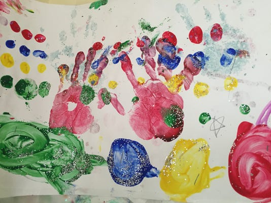 Hand prints at Crisis Nursery