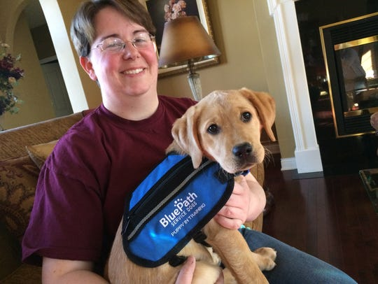 Nicole Guite is training Pearl to become a service