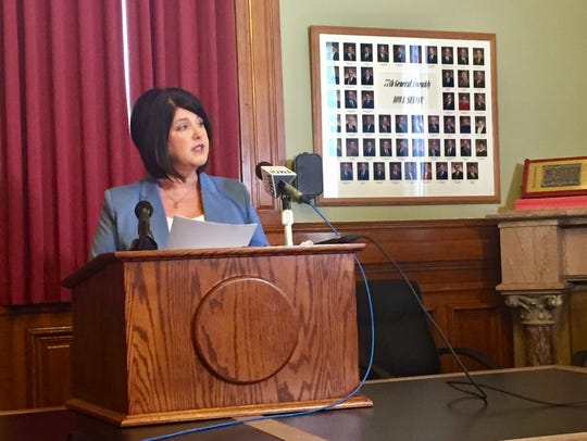 Iowa State Education Association President Tammy Wawro