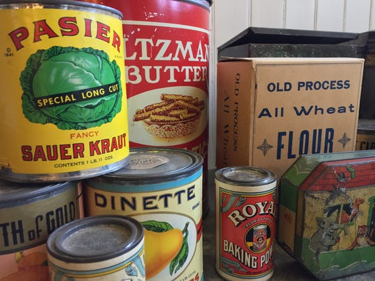 Some of the vintage canned goods featured in the Backstairs tour of Lyndhurst.
