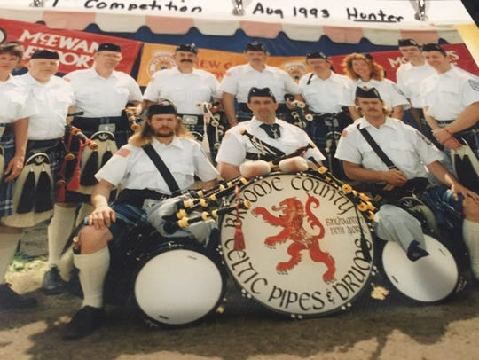 Broome County Celtic Pipes and Drums Band celebrates