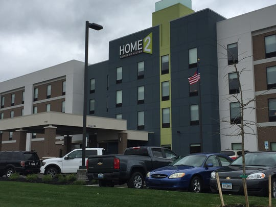 The new Home2 Suites by Hilton, off Interstate 69 and Lloyd Expressway.