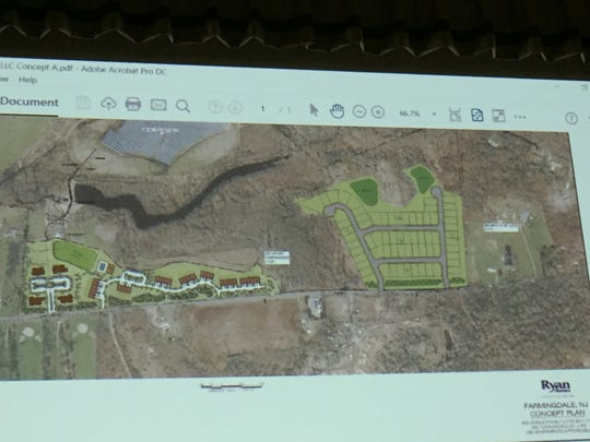Brickyard LLC and Ryan Homes proposed 139 units on 150 acres.