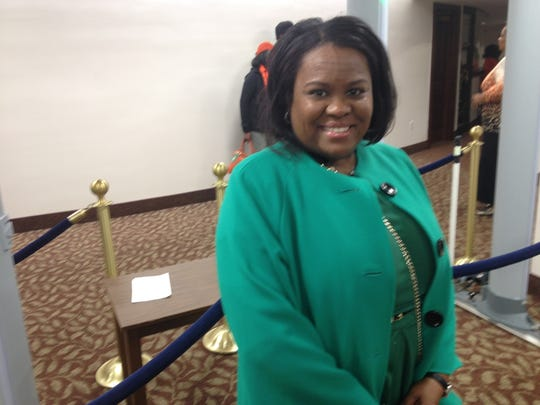Angela Freeman, president of  the J.R. Lee Jacksonville Alumni Chapter at FAMU Day at the Capitol.