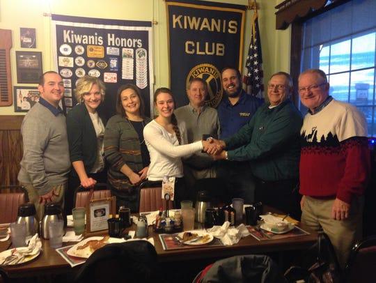 The Waupun Kiwanis Club welcomed Josie Venhuizen as