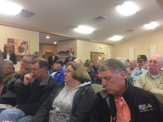 People attend U.S. Rep. Glenn Grothman's town hall