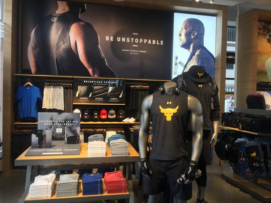 Under Armour's store in Detroit is the first to feature