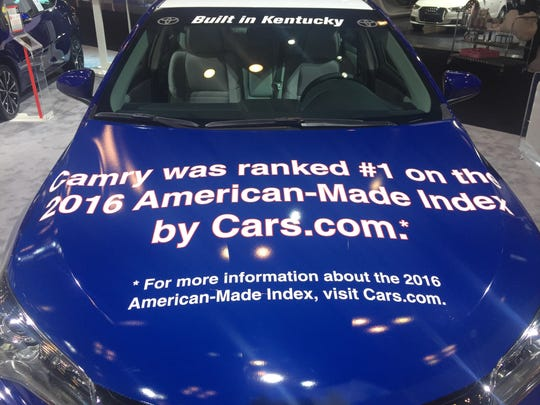 The Toyota Camry was ranked the No. 1 most made in