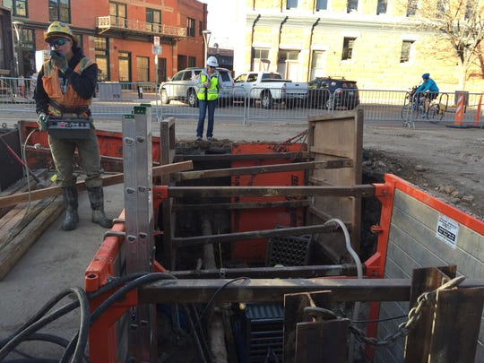 A project to replace a century-old sewer line underneath Walnut Street is winding down. The next phase of the project will begin in September.