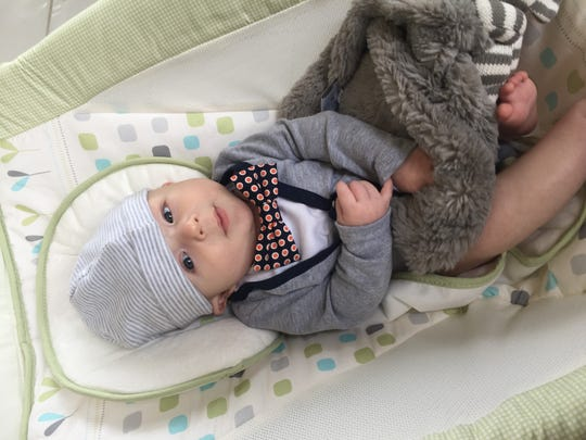 Three-month-old David K. Wilson IV around Thanksgiving 2015, about two weeks before he died