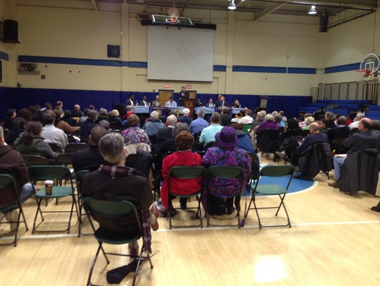 Greenburgh residents attend a March 28 meeting about