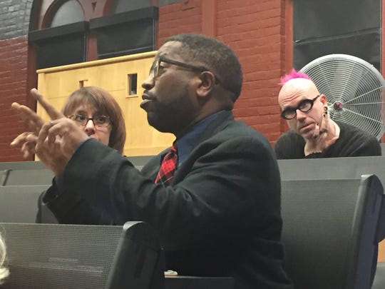 UVM professor Major Jackson spoke up at a round table
