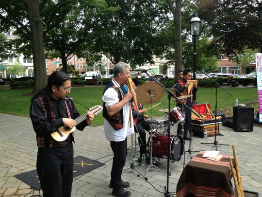 The South American band Eco Del Sur kicks off the Music Beyond Borders series of free Tuesday lunchtime concerts this summer on the Morristown Green.