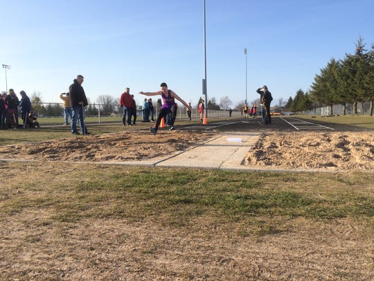 Kewaunee's Winston Holly competes in the triple jump