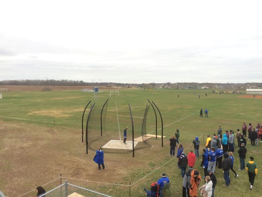 Wrightstown senior Bryce Herlache completes a throw