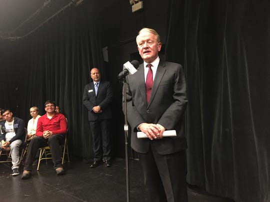Rep. Leonard Lance (R-7th District) attended a special showcase Monday highlighting beneficiaries of NEA funds  - the Theatre for Everyone project - at the Tony Award-winning Paper Mill Playhouse in Millburn.