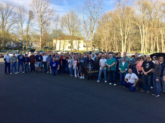 Members of the Garden State Region Mustang Club gather