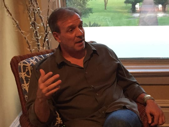 Jimbo Fisher discusses a variety of topics Thursday night during his visit to the Pensacola Yacht Club to speak to FSU boosters.