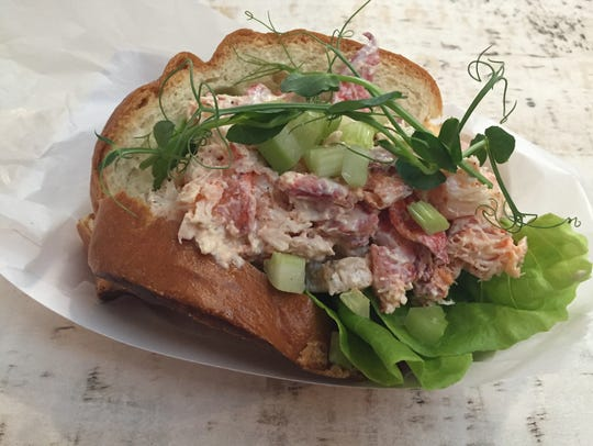 A Maine-style lobster roll at Court Street Lobster
