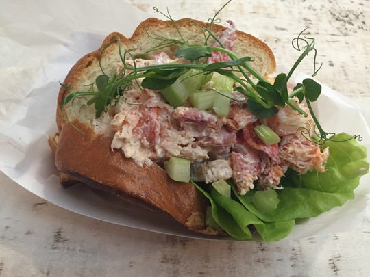 A Maine-style lobster roll at Court Street Lobster Bar in Downtown Cincinnati