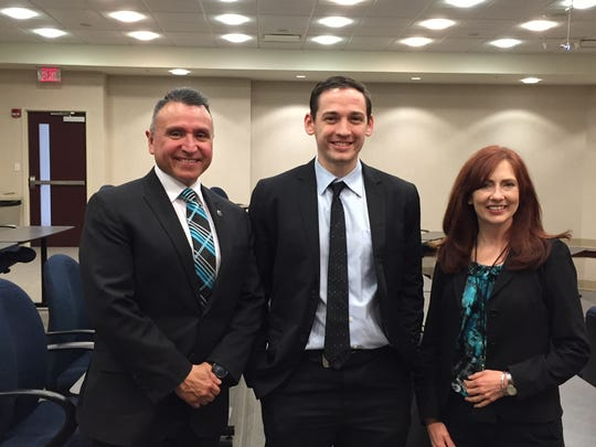 "Ron Tijerina, Joseph Jakubowski and Catherine Tijerina, who are involved in The Ridge Project, a U.S. Dept. of Labor ""career pathways"" project"