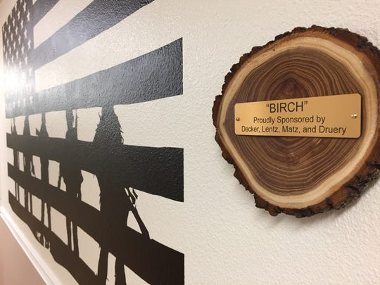 """The """"Birch"""" bedroom, sponsored by four families, has a music theme."""