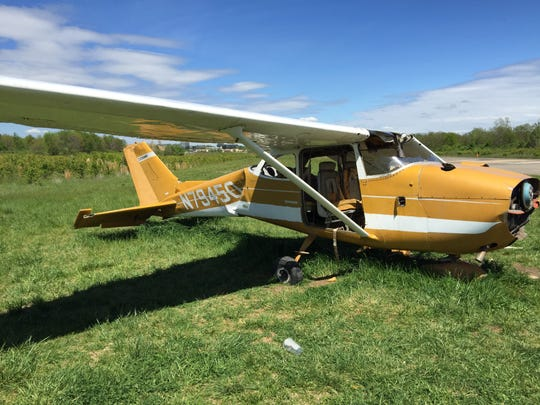 The airplane in the undeveloped land behind Blue Ash's
