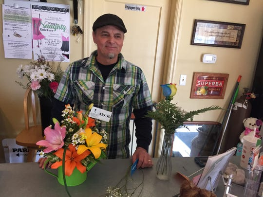 Rob Jacobson (pictured) and his wife Lori now have a brick-and-mortar presence in town as Stayton Flowers is located at 1486 N. First (First and Fir, next to Stayton Animal Supply).
