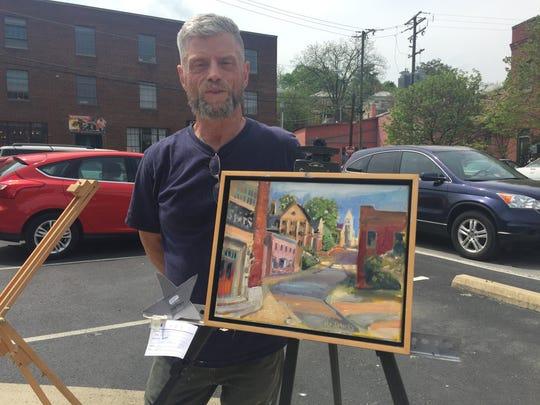 Steve Doherty, of Waynesboro, stands alongside his