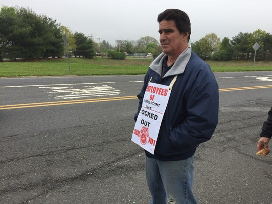 Shore Point Distributing Co. Inc. in Freehold Township locked out workers Sunday after failing to agree on a new contract.