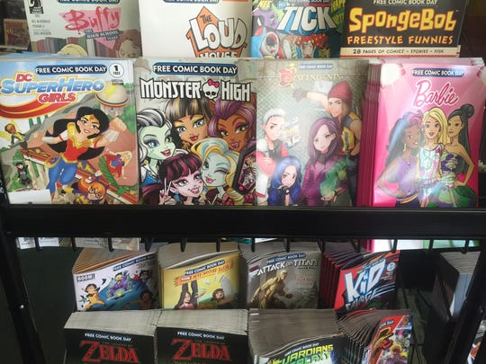 Among the span of free comics available this year are a number aimed at young female readers.