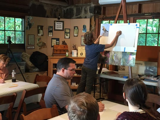 Professional illustrator Christine Elder will lead bird and wildflower sketching classes at the Birding and Wildflower Festival May 13-14 at Silver Falls State Park.