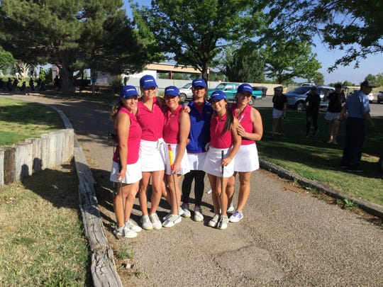 The Ruidoso girls golf team  wins the Class 4A/1A District 4 Tournament hosted at the Links at Sierra Blanca Monday.
