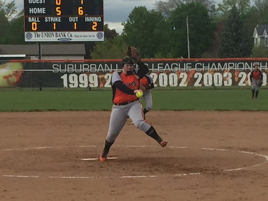 Gibsonburg's Aubrey Fleming has an unblemished record in the circle.